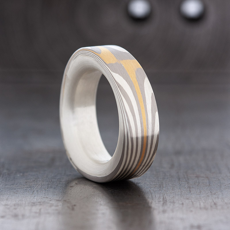 mokume gane Ring One Off
